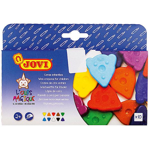 JOVI Восковые мелки JOVI, 10 цветов карандаши восковые мелки пастель giotto stilnovo cancellab temp gom 10 цветных с индивидуальным ластиком