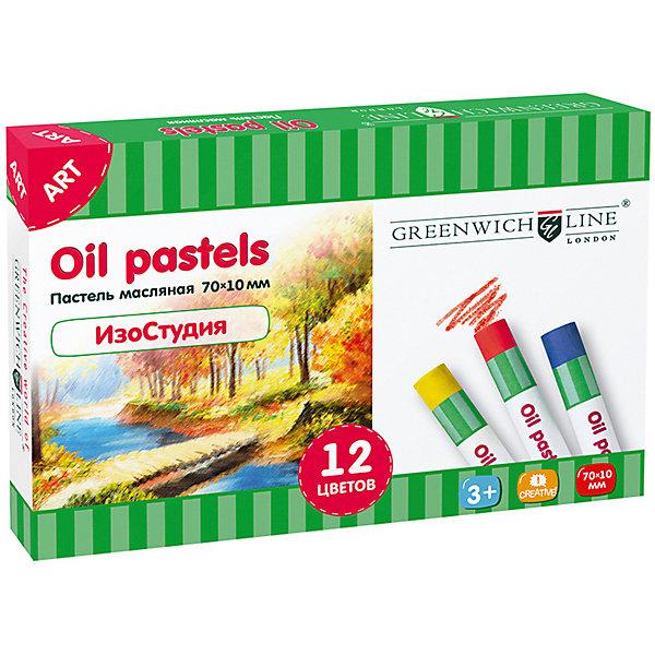 Пастель масляная Greenwich Line «ИзоСтудия», 12 цветовПастель Уголь<br>Характеристики:<br><br>• возраст: от 3 лет;<br>• тип: масляная<br>• в комплекте: 12 цветов;<br>• форма сечения: круглая;<br>• обертка: индивидуальная;<br>• упаковка: картонная коробка;<br>• вес упаковки: 139 гр.;<br>• размер упаковки: 14,3х9,5х1,7 см;<br>• страна бренда: Великобритания.<br><br>Пастель масляная Greenwich Line (Гринвич Лайн) «ИзоСтудия», 12 цветов отличается интенсивностью и яркостью цвета, смешиваемостью и мягкостью. Легко ложится на различные фактуры бумаги, картона, дерева, керамики. Подходит для работы на открытом воздухе.<br><br>Рисунок, выполненный масляной пастелью, не нужно закреплять. В наборе 12 цветов: белый, охра оранжевая, желтый, сепия, охра желтая, красный темный, зеленый, темно-зеленый, лазурный, кобальт синий, коричневый, черный. Набор способствует развитию творческих способностей, фантазии и воображения. <br><br>Пастель масляную Greenwich Line (Гринвич Лайн) «ИзоСтудия», 12 цветов можно купить в нашем интернет-магазине.<br>Ширина мм: 143; Глубина мм: 95; Высота мм: 17; Вес г: 139; Возраст от месяцев: 36; Возраст до месяцев: 2147483647; Пол: Унисекс; Возраст: Детский; SKU: 8276502;