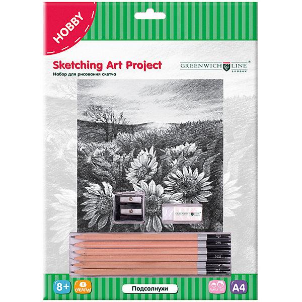 Купить Набор для рисования скетча Greenwich Line «Подсолнухи», Китай, Унисекс