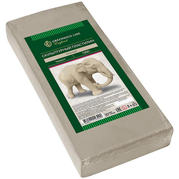 Скульптурный пластилин Greenwich Line, телесныйПластилин<br>Характеристики:<br><br>• возраст: от 3 лет;<br>• тип: пластилин скульптурный;<br>• цвет: телесный;<br>• общая масса пластилина: 1 кг;<br>• плотность: мягкий;<br>• упаковка товара: полиэтиленовый рукав;<br>• размер упаковки: 16,5х0,85х0,25 см;<br>• вес упаковки: 1,1 кг;<br>• страна бренда: Великобритания.<br><br>Скульптурный пластилин Greenwich Line (Гринвич Лайн) предназначен для создания предметов интерьера, аппликаций и картин. Не имеет запаха, не токсичен. Пластилин держит форму, устойчив к перепадам температуры, не оставляет пятен и не липнет к рукам.<br><br>Скульптурный пластилин Greenwich Line (Гринвич Лайн), телесный можно купить в нашем интернет-магазине.<br>Ширина мм: 230; Глубина мм: 100; Высота мм: 30; Вес г: 1180; Возраст от месяцев: 36; Возраст до месяцев: 2147483647; Пол: Унисекс; Возраст: Детский; SKU: 8276550;