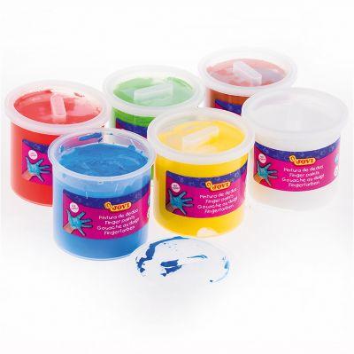 Пальчиковые краски JOVI, 6 цветов, артикул:8276554 - Рисование и раскрашивание