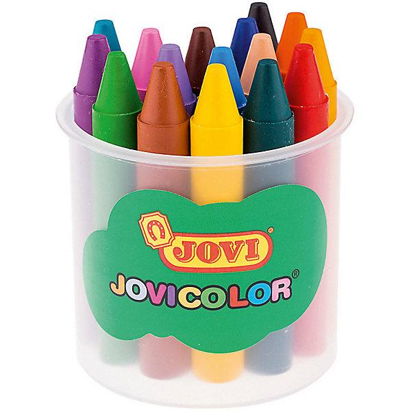 Восковые карандаши JOVI, 16 цветовМасляные и восковые мелки<br>Характеристики:<br><br>• возраст: от 3 лет;<br>• тип: восковые;<br>• в комплекте: 16 шт.;<br>• количество цветов: 16;<br>• форма корпуса: круглая;<br>• длина: 75 мм;<br>• диаметр корпуса: 11 мм;<br>• упаковка товара: пластиковый стакан;<br>• размер упаковки: 0,80х0,70х0,70 см;<br>• вес упаковки: 153 гр.;<br>• страна бренда: Испания.<br><br>Восковые карандаши JOVI (Джови) рисуют на любой бумаге, кроме с глянцевой поверхностью. Не гнутся, не пачкают руки, не липнут, не выпотевают, не имеют запаха, не ломаются при падении, стираются ластиком.<br><br>Палитра представлена из шестнадцати цветов: желтый, красный, телесный, зеленый, голубой, синий, фиолетовый, оранжевый, розовый, темно-зеленый, коричневый, черный, бирюзовый, светло-коричневый, сиреневый, светло-оранжевый. Изготавливаются из натуральных растительных компонентов, гиппоаллергенны, не содержат глютен. <br><br>Восковые карандаши JOVI (Джови), 16 цветов можно купить в нашем интернет-магазине.<br>Ширина мм: 80; Глубина мм: 70; Высота мм: 70; Вес г: 153; Возраст от месяцев: 36; Возраст до месяцев: 2147483647; Пол: Унисекс; Возраст: Детский; SKU: 8276600;