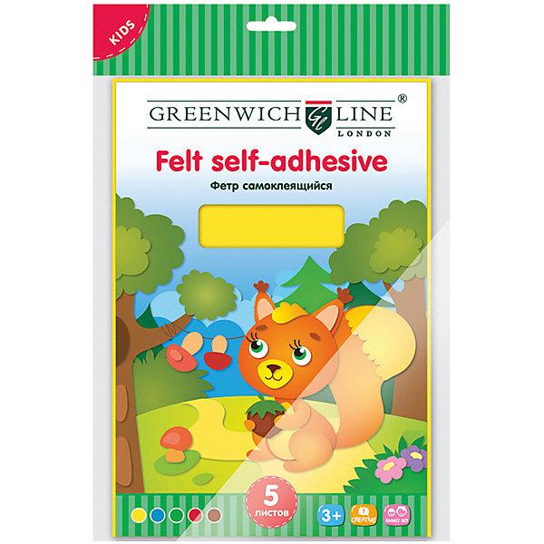 Greenwich Line Набор цветного фетра Greenwich Line А4, 5 листов аппликация из фетра котёнок с мячом с2564 10