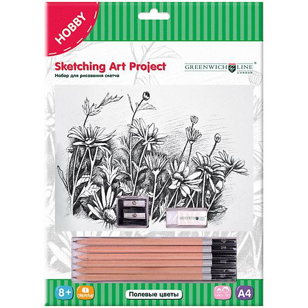 Купить Набор для рисования скетча Greenwich Line «Полевые цветы», Китай, Унисекс