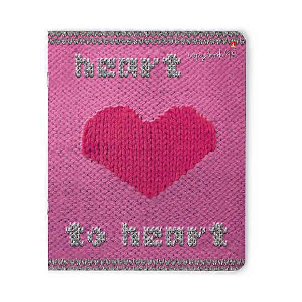 Альт Тетрадь Альт Модный свитер. Сердце 48 листов, 5 шт., клетка