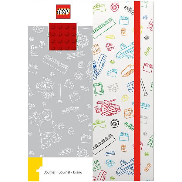 LEGO Книга для записей (96 листов, линейка) с резинкой LEGO, цвет: , белый lego книга для записей 96 листов линейка с резинкой lego ninjago movie лего фильм ниндзяго kai