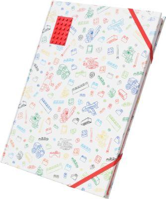 Альбом для рисования A4 (96 листов) LEGO, цвет: белый с красным кубиком, артикул:8287525 - Бумажная продукция
