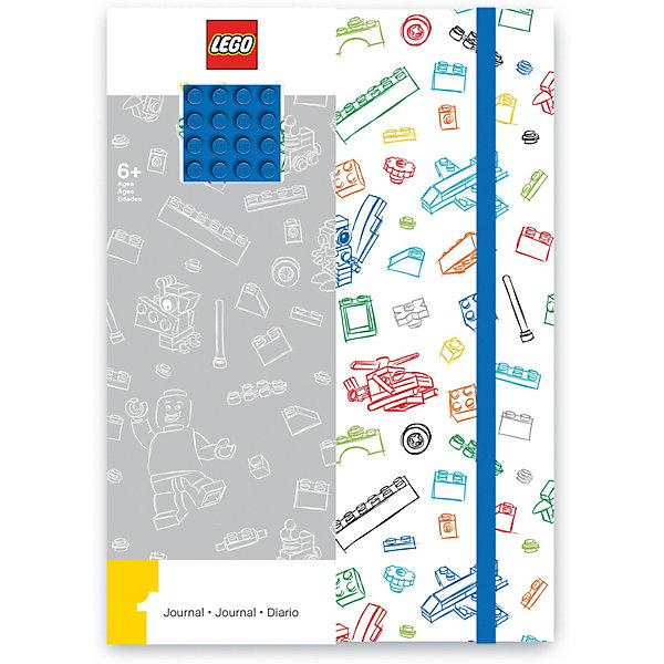 LEGO Книга для записей (96 листов, линейка) с резинкой LEGO, цвет: , белый