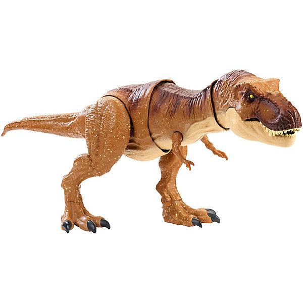 Mattel Функциональная фигурка Jurassic World Атакующий Ти-рекс mojo фигурка тираннозавр рекс 387258p