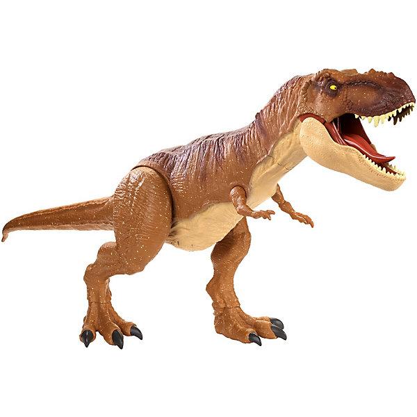 Mattel Функциональная фигурка Jurassic World Колоссальный тиранозавр Рекс