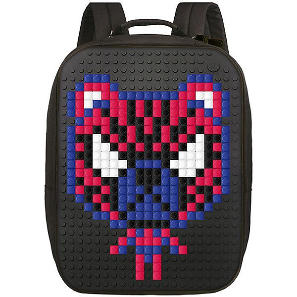 Пиксельный рюкзак большой (ортопедическая спинка) Upixel «Canvas classic pixel Backpack», черныйРюкзаки<br>Характеристики:<br><br>? возраст: от 5 лет;<br>? тип: рюкзак;<br>? материал: 100% полиэстер;<br>? подкладка: 100% полиэстер;<br>? панель: 100% силикон;<br>? цвет: черный;<br>? в комплекте: буклет с возможными вариантами изображений;<br>? пиксели: 120 шт. 13х13 мм;<br>? поверхность: 21 ряд, 28 линий;<br>? количество точек: 565;<br>? размер товара: 13х31х41 см;<br>? вес упаковки: 1,02 кг;<br>? страна бренда: Китай.<br><br>Пиксельный рюкзак большой (ортопедическая спинка) Upixel «Canvas classic pixel Backpack» (Юпиксел Топ Лид пиксел бекпак) обладает силиконовой панелью, на которой с помощью «пикселей» в виде мозаики возможно выложить любой рисунок. В комплекте присутствует буклет с возможными вариантами изображений на рюкзаке. Надёжный и вместительный рюкзак для ноутбука с ортопедической спинкой.<br><br>Представленный рюкзак рассчитан под ноутбук диаметром до 15 дюймов или большой планшет. Данный товар сертифицирован и создан из экологически чистых материалов.<br><br>Рюкзак имеет основной отдел на молнии, карман на молнии спереди, два боковых кармана на молнии и металлическую застежку (можно использовать в качестве ручки).<br><br>Для  воплощения  своих  фантазий  можно  докупать  пиксельные  фишки  размера  13х13мм  или  готовые  наборы  картинок  с  фишками аналогичного  размера.<br><br>Пиксельный рюкзак большой (ортопедическая спинка) Upixel «Canvas classic pixel Backpack» (Юпиксел Топ Лид пиксел бекпак), черный можно купить в нашем интернет-магазине.<br>Ширина мм: 130; Глубина мм: 310; Высота мм: 410; Вес г: 1020; Цвет: черный; Возраст от месяцев: 60; Возраст до месяцев: 2147483647; Пол: Унисекс; Возраст: Детский; SKU: 8291038;