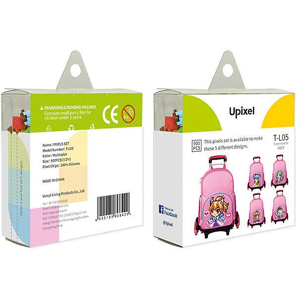 Upixel Комплект пикселей собери любую из 5 картинок Upixel, 900 шт. шубница 28 5 15 5 5 см 900 мл павлин на бежевом 1133664