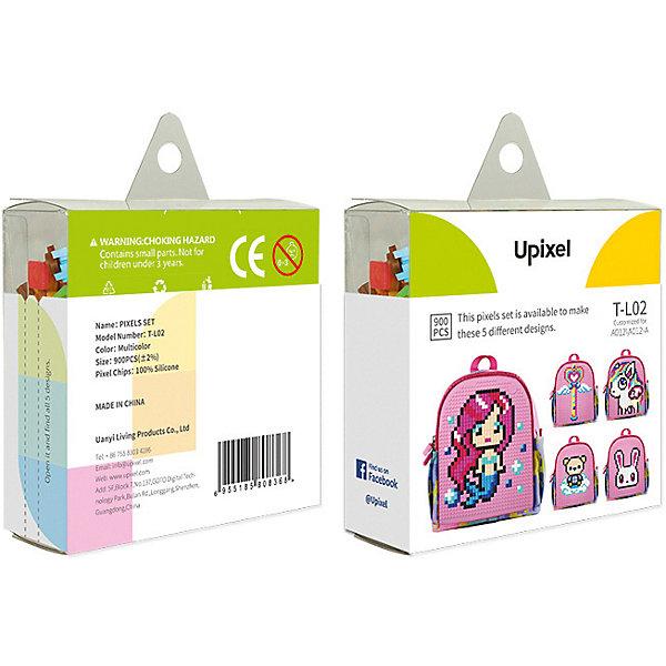 Комплект пикселей собери любую из 5 картинок Upixel, 900 штАксессуары для ранцев и рюкзаков<br>Характеристики:<br><br>• возраст: от 5 лет;<br>• материал: силикон;<br>• комплект: 900 деталей 7х7 мм, буклет с возможными вариантами изображений;<br>• размер изделия: 3х8,6х8,6 см;<br>• вес комплекта: 125 гр;<br>• страна бренда: Китай.<br><br>Комплект больших пикселей собери любую из 5 картинок Upixel состоит из подобранных картинок, это отличное решение на первое время при знакомстве с пиксельным творчеством.<br><br>Комплект пикселей собери любую из 5 картинок Upixel, 900 шт. можно приобрести в нашем интернет-магазине.<br>Ширина мм: 30; Глубина мм: 86; Высота мм: 86; Вес г: 125; Цвет: разноцветный; Возраст от месяцев: 60; Возраст до месяцев: 2147483647; Пол: Унисекс; Возраст: Детский; SKU: 8291064;