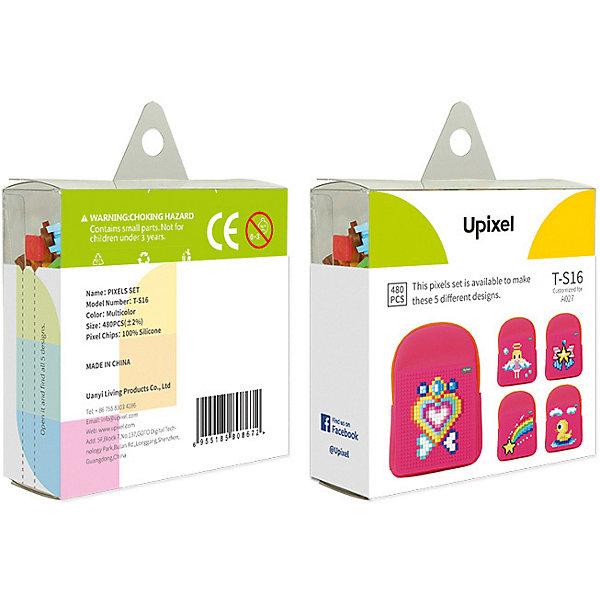 Комплект пикселей собери любую из 5 картинок Upixel, 480 штАксессуары для ранцев и рюкзаков<br>Характеристики:<br><br>• возраст: от 3 лет;<br>• материал: силикон;<br>• количество деталей: 480 шт. 7х7 мм, буклет с возможными вариантами изображений;<br>• размер изделия: 3х8,6х8,6 см;<br>• вес комплекта: 65 гр;<br>• страна бренда: Китай.<br><br>Комплект пикселей собери любую из 5 картинок Upixel состоит из подобранных картинок, это отличное решение на первое время при знакомстве с пиксельным творчеством.<br><br>Комплект пикселей собери любую из 5 картинок Upixel, 480 шт. можно приобрести в нашем интернет-магазине.<br>Ширина мм: 30; Глубина мм: 86; Высота мм: 86; Вес г: 65; Цвет: разноцветный; Возраст от месяцев: 60; Возраст до месяцев: 2147483647; Пол: Унисекс; Возраст: Детский; SKU: 8291066;