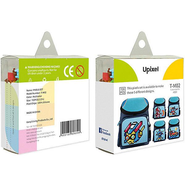 Комплект больших пикселей собери любую из 5 картинок Upixel, 720 штАксессуары для ранцев и рюкзаков<br>Характеристики:<br><br>• возраст: от 3 лет;<br>• материал: силикон;<br>• комплект: 720 деталей 7х7 мм, буклет с возможными вариантами изображений;<br>• размер изделия: 3х8,6х8,6 см;<br>• вес комплекта: 100 гр.;<br>• страна бренда: Китай.<br><br>Комплект больших пикселей собери любую из 5 картинок Upixel состоит из подобранных картинок, это отличное решение на первое время при знакомстве с пиксельным творчеством.<br><br>Комплект больших пикселей собери любую из 5 картинок Upixel, 720 шт. можно приобрести в нашем интернет-магазине.<br>Ширина мм: 30; Глубина мм: 86; Высота мм: 86; Вес г: 100; Цвет: разноцветный; Возраст от месяцев: 60; Возраст до месяцев: 2147483647; Пол: Унисекс; Возраст: Детский; SKU: 8291074;