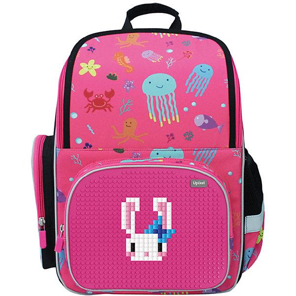 Школьный рюкзак Upixel «Starry Sky», фуксияРюкзаки<br>Характеристики:<br><br>• возраст: от 5 лет;<br>• цвет: фуксия;<br>• материал: полиэстер, силикон;<br>• вид застежки: молния;<br>• особенности: светоотражающие вставки, водоотталкивающая пропитка, жесткая вставка в спинке;<br>• количество внутренних отделений: 2;<br>• комплект: 120 пикселей 7х7мм;<br>• габариты рюкзака: 14х28х38 см;<br>• вес рюкзака: 630 гр.;<br>• страна бренда: Китай.<br><br>Детский рюкзак Upixel «Starry Sky» (Юпиксел Старри Ску) способствует поддержанию позвоночника во время ношения аксессуара, внутренняя организация адаптирована для комфортного расположения всех школьных принадлежностей. В комплект входят маленькие пиксели 7х7 мм (фишки) разноцветные и фирменный буклет с возможными изображениями. Поле для крепления пикселей состоит из 870 точек крепления: ряд из 34, линия из 26.<br><br>Для  воплощения  своих  фантазий  можно  докупать  пиксельные  фишки  размера  7х7 мм  или  готовые  наборы  картинок  с  фишками аналогичного  размера.<br><br>Детский рюкзак Upixel «Starry Sky» (Юпиксел Старри Ску), фуксия можно приобрести в нашем интернет-магазине.<br>Ширина мм: 140; Глубина мм: 280; Высота мм: 380; Вес г: 630; Цвет: фиолетовый; Возраст от месяцев: 60; Возраст до месяцев: 2147483647; Пол: Унисекс; Возраст: Детский; SKU: 8291092;