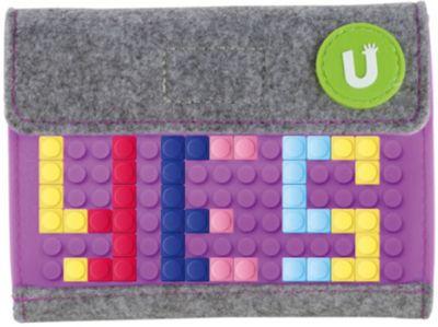 Пиксельный кошелек Upixel «Pixel felt small wallet», фиолетовый, артикул:8291104 - Кошельки