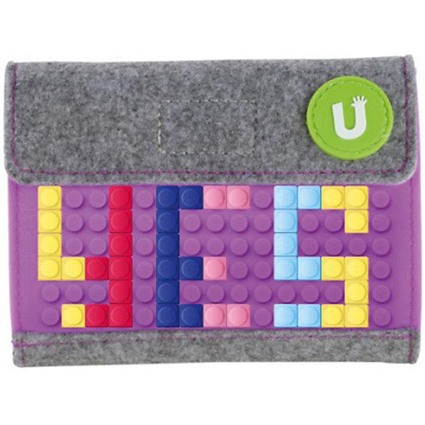 Пиксельный кошелек Upixel «Pixel felt small wallet», фиолетовыйКошельки<br>Характеристики:<br><br>? возраст: от 5 лет;<br>? тип: кошелек;<br>? материал: 100% полиэстер (фетр);<br>? панель: 100% силикон;<br>? цвет: фиолетовый;<br>? в комплекте: буклет в возможными вариантами изображения;<br>? пиксели: 80 шт 7х7мм;<br>? поверхность: 15 рядов, 10 линий;<br>? количество точек: 156;<br>? размер товара: 1х12,5х9,5 см;<br>? упаковка: пакет;<br>? вес упаковки: 60 г;<br>? страна бренда: Китай.<br><br>Пиксельный кошелек Upixel «Pixel felt small wallet» (Юпиксел Пиксел фелт смал валлет), обладающий силиконовой панелью, на которой с помощью «пикселей» в виде мозаики возможно выложить любой рисунок.<br><br>Представленный товар сертифицирован и создан из экологически чистых материалов. Качество материала обладает водонепроницаемым свойством. В комплекте 80 пикселей разных цветов, инструкция для создания рисунка.<br><br>Кошелёк имеет клапан-липучку. Внутри кошелька одно отделение под купюры и два кармашка, один из которых на молнии под монеты, второй открытый из крепкого прозрачного полиэтиленового материала для визиток или карт под силиконовой панелью лицевой части.<br><br>Для  воплощения  своих  фантазий  можно  докупать  пиксельные  фишки  размера  7х7 мм  или  готовые  наборы  картинок  с  фишками аналогичного  размера.<br><br>Пиксельный кошелек Upixel «Pixel felt small wallet» (Юпиксел Пиксел фелт смал валлет), фиолетовый можно купить в нашем интернет-магазине.<br>Ширина мм: 10; Глубина мм: 125; Высота мм: 95; Вес г: 60; Цвет: фиолетовый; Возраст от месяцев: 60; Возраст до месяцев: 2147483647; Пол: Унисекс; Возраст: Детский; SKU: 8291104;
