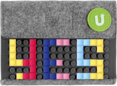 Пиксельный кошелек Upixel «Pixel felt small wallet», серый, артикул:8291126 - Кошельки