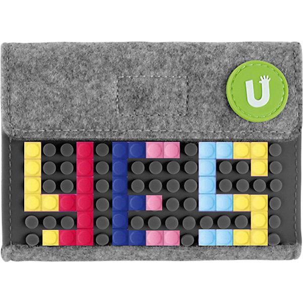 Пиксельный кошелек Upixel «Pixel felt small wallet», серый