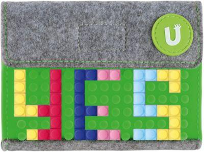 Пиксельный кошелек Upixel «Pixel felt small wallet», зеленый, артикул:8291158 - Кошельки
