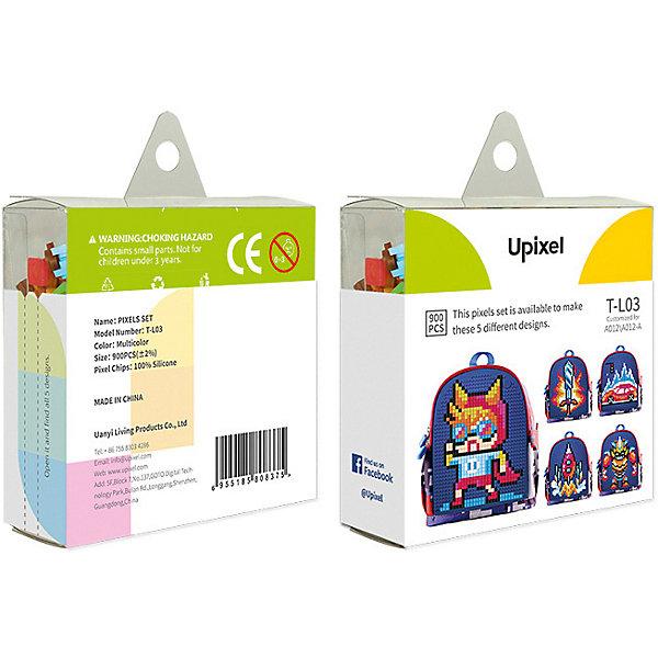Комплект пикселей собери любую из 5 картинок Upixel, 900 шт.Аксессуары для ранцев и рюкзаков<br>Характеристики:<br><br>• возраст: от 5 лет;<br>• материал: силикон;<br>• комплект: 900 деталей 7х7 мм, буклет с возможными вариантами изображений;<br>• размер изделия: 3х8,6х8,6 см;<br>• вес комплекта: 125 гр;<br>• страна бренда: Китай.<br><br>Комплект больших пикселей собери любую из 5 картинок Upixel состоит из подобранных картинок, это отличное решение на первое время при знакомстве с пиксельным творчеством.<br><br>Комплект пикселей собери любую из 5 картинок Upixel, 900 шт. можно приобрести в нашем интернет-магазине.<br>Ширина мм: 30; Глубина мм: 86; Высота мм: 86; Вес г: 125; Цвет: разноцветный; Возраст от месяцев: 60; Возраст до месяцев: 2147483647; Пол: Унисекс; Возраст: Детский; SKU: 8291160;