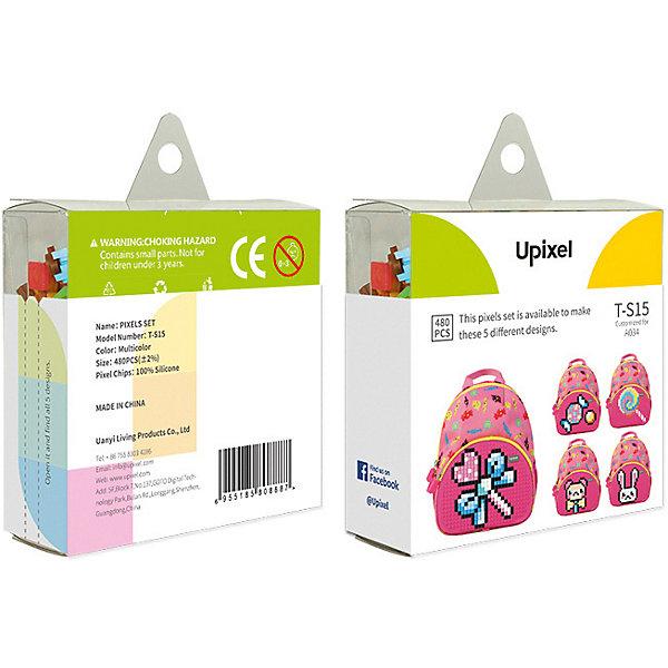 Комплект пикселей собери любую из 5 картинок Upixel, 480 штАксессуары для ранцев и рюкзаков<br>Характеристики:<br><br>• возраст: от 3 лет;<br>• материал: силикон;<br>• количество деталей: 480 шт. 7х7 мм, буклет с возможными вариантами изображений;<br>• размер изделия: 3х8,6х8,6 см;<br>• вес комплекта: 65 гр;<br>• страна бренда: Китай.<br><br>Комплект пикселей собери любую из 5 картинок Upixel состоит из подобранных картинок, это отличное решение на первое время при знакомстве с пиксельным творчеством.<br><br>Комплект пикселей собери любую из 5 картинок Upixel, 480 шт. можно приобрести в нашем интернет-магазине.<br>Ширина мм: 30; Глубина мм: 86; Высота мм: 86; Вес г: 65; Цвет: разноцветный; Возраст от месяцев: 60; Возраст до месяцев: 2147483647; Пол: Унисекс; Возраст: Детский; SKU: 8291212;