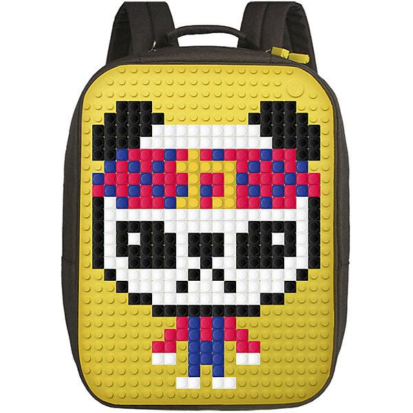 Upixel Пиксельный рюкзак большой (ортопедическая спинка) Upixel «Canvas classic pixel Backpack», желтый рюкзак sprayground pixel shark backpack b188 multicolor