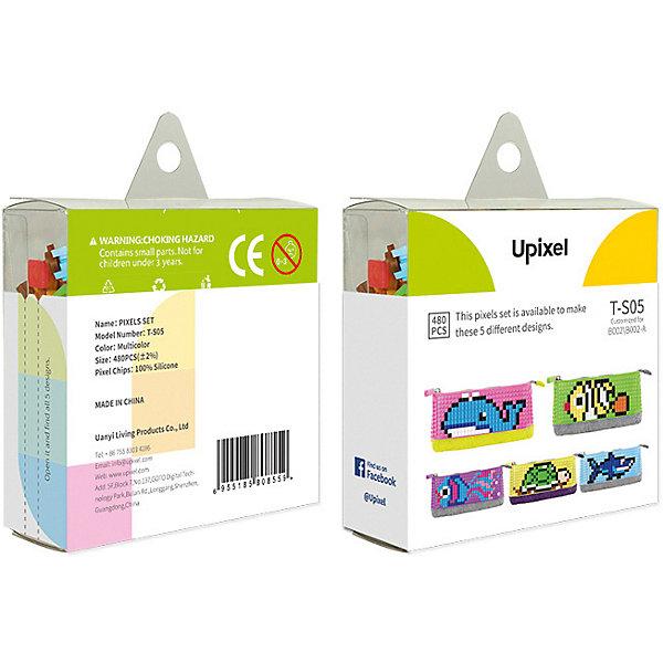 Комплект пикселей собери любую из 5 картинок Upixel, 480 штАксессуары для ранцев и рюкзаков<br>Характеристики:<br><br>• возраст: от 3 лет;<br>• материал: силикон;<br>• количество деталей: 480 шт. 7х7 мм, буклет с возможными вариантами изображений;<br>• размер изделия: 3х8,6х8,6 см;<br>• вес комплекта: 65 гр;<br>• страна бренда: Китай.<br><br>Комплект пикселей собери любую из 5 картинок Upixel состоит из подобранных картинок, это отличное решение на первое время при знакомстве с пиксельным творчеством.<br><br>Комплект пикселей собери любую из 5 картинок Upixel, 480 шт. можно приобрести в нашем интернет-магазине.