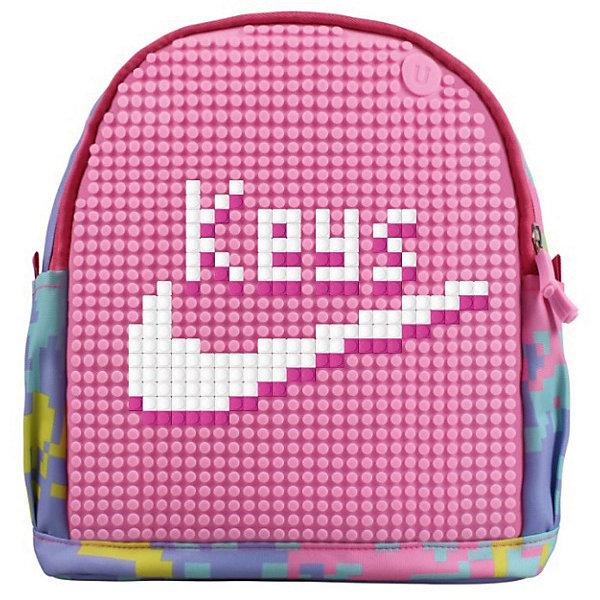 Школьный рюкзак Upixel «Dream High Kids Daysack», розовыйРюкзаки<br>Характеристики:<br><br>• возраст: от 1 лет;<br>• цвет: розовый;<br>• материал: полиэстер, силикон;<br>• вид застежки: молния;<br>• особенности: анатомические лямки, водоотталкивающая пропитка, воздухопроницаемая спинка;<br>• количество внутренних карманов: 2;<br>• комплект: 120 пикселей (размером  7х7 мм);<br>• габариты рюкзака: 10х30х29 см;<br>• вес рюкзака: 470 гр.;<br>• страна бренда: Китай.<br><br>Детский рюкзак Upixel «Dream High Kids Daysack» (Юпиксел Дреам Хай Кидс Деусек) оснащён стандартными регулиремыми по длине лямками с пластиковой фунитурой и двумя внешними карманами на липучке. Стенки и дно с уплотнением, внутри имеется дополнительный открытый карман на липучке расположенный за пиксельной панелью лицевой части. Поле для крепления пикселей состоит из 1054 точек крепления: ряд из 31, линия из 36.<br><br>Для  воплощения  своих  фантазий  можно  докупать  пиксельные  фишки  размера  7х7 мм  или  готовые  наборы  картинок  с  фишками аналогичного  размера.<br><br>Детский рюкзак Upixel «Dream High Kids Daysack» (Юпиксел Дреам Хай Кидс Деусек), розовый можно приобрести в нашем интернет-магазине.<br>Ширина мм: 100; Глубина мм: 300; Высота мм: 290; Вес г: 470; Цвет: розовый; Возраст от месяцев: 60; Возраст до месяцев: 2147483647; Пол: Женский; Возраст: Детский; SKU: 8291332;