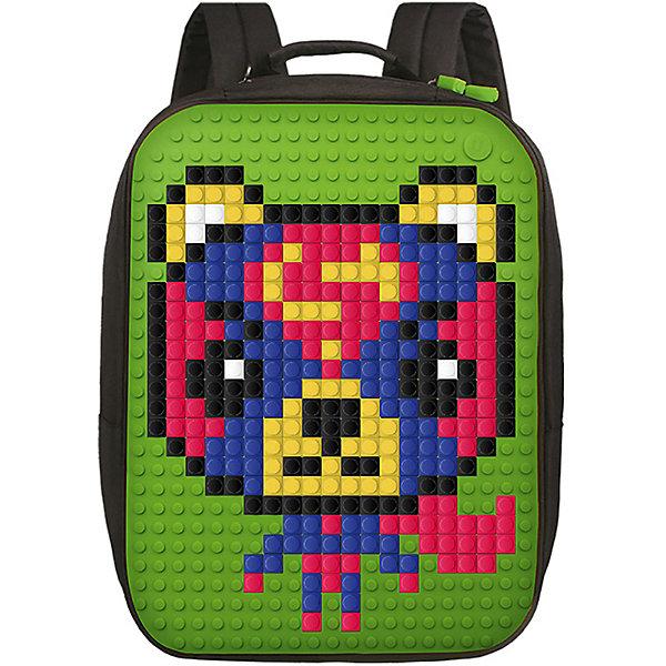 Upixel Пиксельный рюкзак большой (ортопедическая спинка) Upixel «Canvas classic pixel Backpack», зеленый органайзер homsu hipster style 22 секции 30 х 30 х 11 см