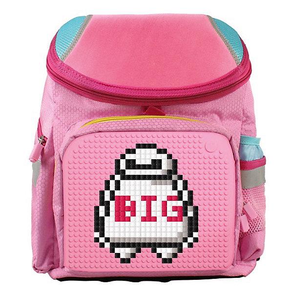 Рюкзак школьный Upixel «Super Class school bag», розовыйРюкзаки<br>Характеристики:<br><br>? возраст: от 5 лет;<br>? тип: рюкзак;<br>? материал: 100% полиэстер;<br>? подкладка: 100% полиэстер;<br>? панель: 100% силикон;<br>? вместимость: 7 литров;<br>? цвет: розовый;<br>? пиксели: 120 шт;<br>? поверхность: 31 ряда, 26 линий;<br>? количество точек: 792;<br>? размер товара: 15х26х36 см;<br>? вес упаковки: 930 г.<br><br>Школьный рюкзак Upixel «Super Class school bag» (Юпиксел Супер Класс скул бег), обладающий силиконовой панелью, на которой с помощью «пикселей» в виде мозаики возможно выложить абсолютно любой рисунок.<br><br>Представленный товар сертифицирован и создан из экологически чистых материалов. В основу технологии положен пищевой силикон, который не деформируется и легко перерабатывается.<br><br>Пространство рюкзака разделено на 3 части. Имеются боковые и передние кармашки. По бокам расположены светоотражающие элементы. За счет жесткой ортопедической спинки снижено напряжение на позвоночник.<br><br>Качество же материала с его водонепроницаемым свойством позволит сохранить в целости учебники при влажной, снежной погоде. Маленькие пиксели (фишки) разноцветные, 120 шт. Фирменный буклет с возможными вариантами изображений. Поле 31 ряда 26 линий, 792 точки крепления. Для  воплощения  своих  фантазий  можно  докупать  пиксельные  фишки  размера  7х7 мм  или  готовые  наборы  картинок  с  фишками аналогичного  размера. <br><br>Школьный рюкзак Upixel «Super Class school bag» (Юпиксел Супер Класс скул бег), розовый можно купить в нашем интернет-магазине.<br>Ширина мм: 150; Глубина мм: 260; Высота мм: 360; Вес г: 930; Цвет: розовый; Возраст от месяцев: 60; Возраст до месяцев: 2147483647; Пол: Женский; Возраст: Детский; SKU: 8291384;