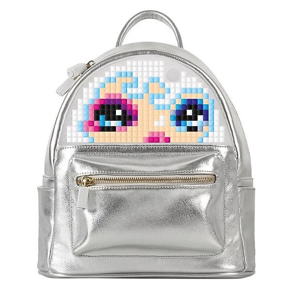Мини рюкзак Upixel «Poker Face Backpack», серебряныйДетские рюкзаки<br>Характеристики:<br><br>• возраст: от 3 лет;<br>• цвет: серебристый;<br>• материал: искуственная кожа, силикон;<br>• вид застежки: молния;<br>• комплект: 120 пикселей 7х7 мм, буклет с возможными вариантами изображений;<br>• размер изделия: 11,5х22,5х27 см;<br>• вес рюкзака: 570 гр.;<br>• страна бренда: Китай.<br><br>Мини рюкзак Upixel «Poker Face Backpack» (Юпиксел Покер Фейс Бакпак), серебряный отличный вариант, как для ежедневных так и вечерних прогулок. Поле для крепления пикселей состоит из 414 точек крепления: ряд из 29, линия из 15.<br><br>Рюкзак сделан из ЭКО кожи, снаружи оформлен двумя маленькими боковыми кармашками и передним карманом на металлической молнии с фирменной застёжкой. Регулируемые лямки рюкзака так же оснащены застёжками из металла. Внутри рюкзак с единым просторным отделением из полиэстеровой ткани на металлической молнии, оформленной так же брендированными застёжками. Оснащён двумя внутренними карманами, одни расположен по спинке на молнии и второй, открытый с внутренней стороны лицевой части.<br><br>Для  воплощения  своих  фантазий  можно  докупать  пиксельные  фишки  размера  7х7 мм  или  готовые  наборы  картинок  с  фишками аналогичного  размера.<br><br>Мини рюкзак Upixel «Poker Face Backpack» (Юпиксел Покер Фейс Бакпак), серебристый можно приобрести в нашем интернет-магазине.<br>Ширина мм: 115; Глубина мм: 225; Высота мм: 270; Вес г: 570; Цвет: серебряный; Возраст от месяцев: 60; Возраст до месяцев: 2147483647; Пол: Женский; Возраст: Детский; SKU: 8291408;