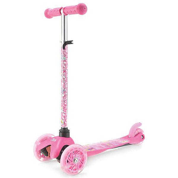 Купить Трехколесный самокат Next Barbie , 12/8 см, Китай, розовый, Женский