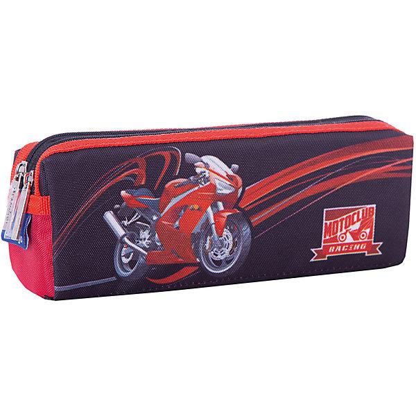 Купить Пенал-косметичка Berlingo Sportbike , 2 отделения, Китай, черный, Мужской