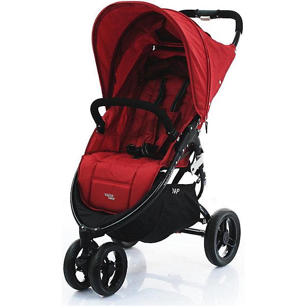 Прогулочная коляска Valco baby Snap / Carmine redПрогулочные коляски<br>Прогулочная трехколесная коляска Valco baby Snap современного дизайна станет верной помощницей на несколько лет.<br><br>Широкое и комфортное сиденье.<br>Спинка опускается до горизонтального положения при помощи ременного механизма.<br>На пятиточечных ремнях безопасности есть мягкие накладки. Ремни регулируются по длине.<br>Прогулочная коляска маневренная, благодаря трем колесам.<br>Переднее колесо поворачивается на 360 градусов. Оно двойное для прочности.<br>Все колеса резиновые, бескамерные.<br>Складывается книжкой.<br>В сложенном виде не только компактная, но и может стоять без опоры. Ее можно переносить, держа за специальную ручку.<br>Родительская ручка сплошная. Она приятная на ощупь, не скользит.<br>Бампер очень удобный, так как отстегивается, чтобы малыша удобнее было сажать в коляску.<br>Козырек большой. У него есть смотровое окошко, которое открывается после расстегивания молнии.<br>Есть вместительная корзина, в которую удобно складывать вещи.<br>Чехлы сшиты из прочной и практичной ткани, съемные и легко очищаются от загрязнений.<br>Возможность установки автокресла при помощи Адаптера Maxi Cosi / Snap &amp; Snap 4.<br>Максимальная нагрузка: 20 кг.<br>Размеры в разложенном виде: 95?54?104 см.<br>Размеры в сложенном виде: 81?54?31 см.<br>Размеры сиденья: 34?48?22 см.<br>Ширина мм: 4640; Глубина мм: 1840; Высота мм: 7870; Вес г: 8645; Цвет: красный; Возраст от месяцев: 0; Возраст до месяцев: 36; Пол: Унисекс; Возраст: Детский; SKU: 8299202;