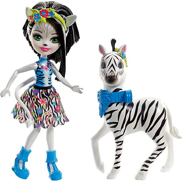 Mattel Мини-кукла Enchantimals С большими зверюшками Зелена Зебра и Хуфит