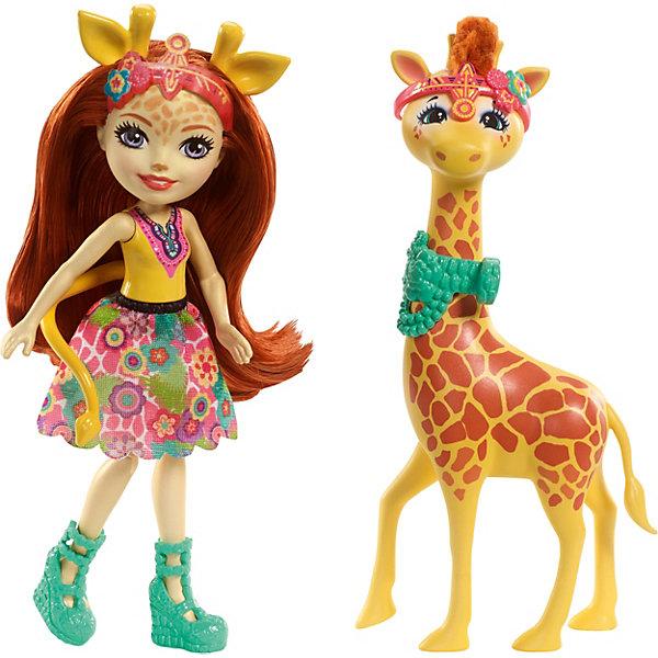 Mattel Мини-кукла Enchantimals С большими зверюшками Джиллиана Жирафка и Паул