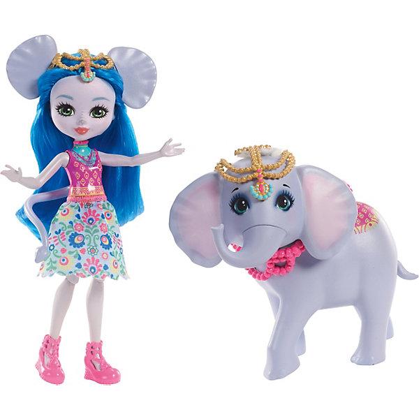 Mattel Мини-кукла Enchantimals С большими зверюшками Екатерина Слон и Антик кукла enchantimals со зверушкой и тематическим набором fcc62 праздник фламинго
