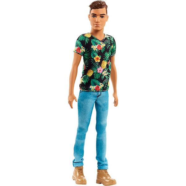 Mattel Кукла Кен Barbie Игра с модой В футболке с ананасами, 29 см цена