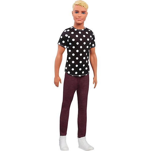 Mattel Кукла Кен Barbie Игра с модой В футболке в горох, 29 см цена