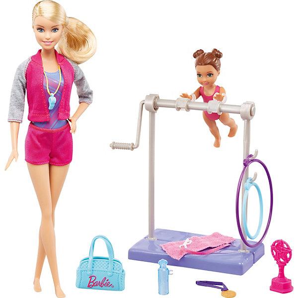 Mattel Игровой набор Barbie Барби-гимнастка Инструктор по гимнастике цена