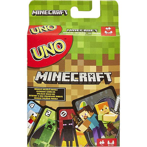 Mattel Карточная игра  Games Уно Майнкрафт