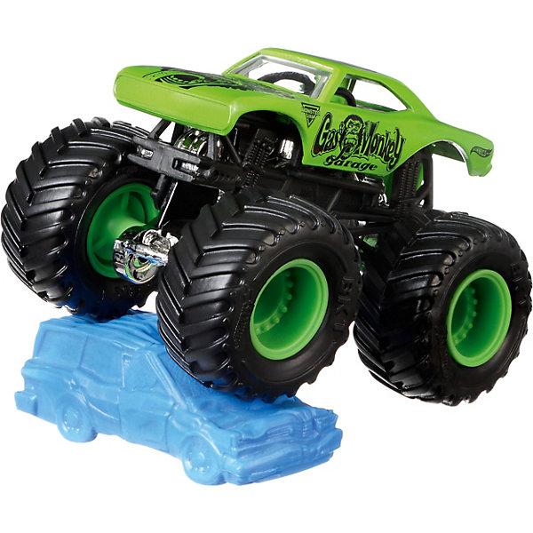 Базовая машинка Hot Wheels Monster Jam Cas Monkey GarageПопулярные игрушки<br>Характеристики:<br><br>• возраст: от 3 лет;<br>• материал: пластик, металл;<br>• вес упаковки: 170 гр.;<br>• размер упаковки: 6х14х18 см;<br>• страна бренда: США.<br><br>Машинка Monster Jam Hot Wheels от Mattel обладает внушительными колесами с поверхностью шин как у настоящих внедорожников. Яркий прорисованный дизайн кузова делает машинку ценным экземпляром коллекции Hot Wheels. Сделано из прочных качественных материалов.<br><br>Базовую машинку, Monster Jam можно купить в нашем интернет-магазине.<br>Ширина мм: 60; Глубина мм: 140; Высота мм: 180; Вес г: 170; Возраст от месяцев: 48; Возраст до месяцев: 96; Пол: Мужской; Возраст: Детский; SKU: 8300875;