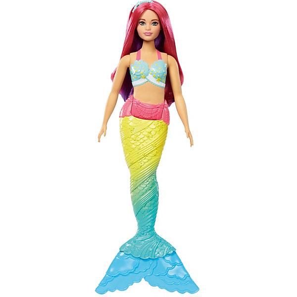 Купить Кукла-русалка Barbie Dreamtopia с розовыми волосами, 29 см, Mattel, Индонезия, Женский