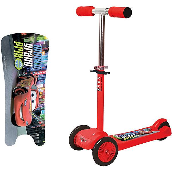 Трёхколёсный самокат 1Toy Тачки, красныйСамокаты<br>Характеристики:<br><br>• возраст: от 3 лет;<br>• материал: пластик, ПВХ, нейлон, алюминий;<br>• максимальная нагрузка: 20 кг.;<br>• регулируемый руль: да;<br>• диаметр колес: передние – 12 см, заднее – 10 см;<br>• размер самоката: 50х10х63 см;<br>• вес упаковки: 2,5 кг.;<br>• размер упаковки: 53х15х24 см;<br>• страна бренда: Россия.<br><br>Самокат 1Toy «Тачки» подойдет для городских прогулок по ровному асфальту. Три колеса обеспечивают большую устойчивость и подготовят ребенка к использованию первого взрослого самоката.<br><br>Увеличенные передние колеса улучшает проходимость. Ручки руля удобны для захвата, поверхность деки нескользящая. Самокат сделан из прочных надежных материалов.<br><br>Самокат 1Toy «Тачки» можно купить в нашем интернет-магазине.<br>Ширина мм: 530; Глубина мм: 240; Высота мм: 150; Вес г: 2528; Цвет: красный; Возраст от месяцев: 60; Возраст до месяцев: 2147483647; Пол: Унисекс; Возраст: Детский; SKU: 8300922;
