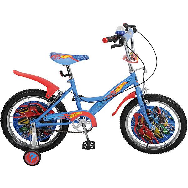 Двухколёсный велосипед Navigator KITE 18 Hot Wheels, голубойВелосипеды и аксессуары<br>Характеристики:<br><br>• возраст: от 5 лет;<br>• материал: металл, пластик, резина;<br>• рост ребенка: 110-130 см;<br>• максимальная нагрузка: 40 кг.;<br>• количество скоростей: 1;<br>• в комплекте: велосипед, страховочные колеса, звонок-пищалка, крылья;<br>• диаметр колес: 18 дюймов;<br>• тип тормоза: передний – клещевой (ручной), задний – клещевой (ручной);<br>• вес упаковки: 11,6 кг.;<br>• размер упаковки: 97х16,5х47 см;<br>• страна бренда: Россия.<br><br>Велосипед «Навигатор» Hot Wheels оснащен дополнительными колесами, чтобы ребенок мог быстро и легко научиться кататься на двухколесном транспорте. Стальная рама отлично выдерживает механическое воздействие. Колеса имеют декоративные вставки, элементы велосипеда оформлены цветными принтами.<br><br>На руле есть мягкая накладка и звонок, рулевая стойка регулируется по высоте. Ручные тормоза позволяют удобно и безопасно останавливать велосипед. Цепь скрыта щитком, а защитные крылья уберегут ребенка от брызг во время катания.<br><br>Велосипед 18 д. «Навигатор» Hot Wheels можно купить в нашем интернет-магазине.<br>Ширина мм: 970; Глубина мм: 165; Высота мм: 470; Вес г: 11600; Цвет: голубой; Возраст от месяцев: 60; Возраст до месяцев: 2147483647; Пол: Унисекс; Возраст: Детский; SKU: 8300924;