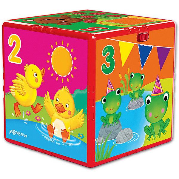 Азбукварик Говорящий кубик Азбукварик Счет, формы, цвета азбукварик животные и растения 01409 1