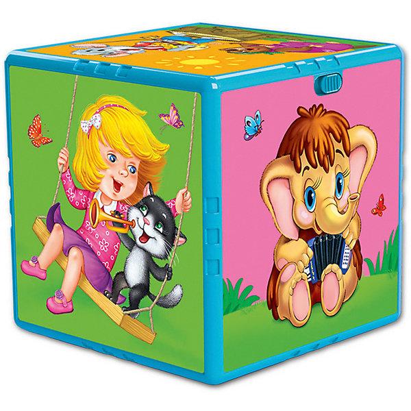 Азбукварик Говорящий кубик Азбукварик Любимые мультяшки азбукварик игрушка азбукварик говорящий кубик в гостях на ферме