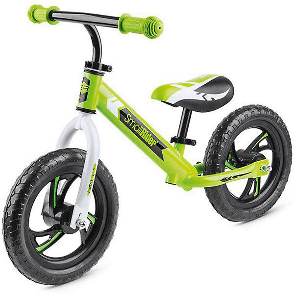 Беговел Small Rider «Roadster EVA», зеленыйБеговелы<br>Характеристики:<br><br>• возраст: от 2 лет;<br>• цвет: зеленый;<br>• максимальная нагрузка: 40 кг;<br>• сиденье: мягкое;<br>• материал рамы: алюминий;<br>• материал шин: ПВХ;<br>• тип шин: цельные;<br>• диаметр колес: 12 мм;<br>• диски: пластиковые;<br>• ручки: резиновые;<br>• ширина ручки: 41см;<br>• максимальная высота руля: 59 см;<br>• минимальная высота от пола 30 см;<br>• максимальная высота от пола: 42 см;<br>• сиденье и руль регулируется без инструмента;<br>• габариты упакоуки: 69х15х30 см;<br>• вес: 2,9 кг;<br>• страна бренда: Россия.<br><br>Беговел Small Rider «Roadster EVA» (Смолл Райдер Родстер ЭВА) создан для того, чтобы малыши с самого малого возраста развивали свои ножки, координацию движений и учился держать равновесие. Сиденье и руль без труда можно отрегулировать под ребенка. Колеса сделаны из специального современного материала, которые не шумят, не прокалываются и не требует подкачки.<br> <br>Беговел Small Rider «Roadster EVA» (Смолл Райдер Родстер ЭВА), зеленый можно приобрести в нашем интернет-магазине.<br>Ширина мм: 690; Глубина мм: 150; Высота мм: 300; Вес г: 2600; Цвет: зеленый; Возраст от месяцев: 36; Возраст до месяцев: 60; Пол: Унисекс; Возраст: Детский; SKU: 8302645;